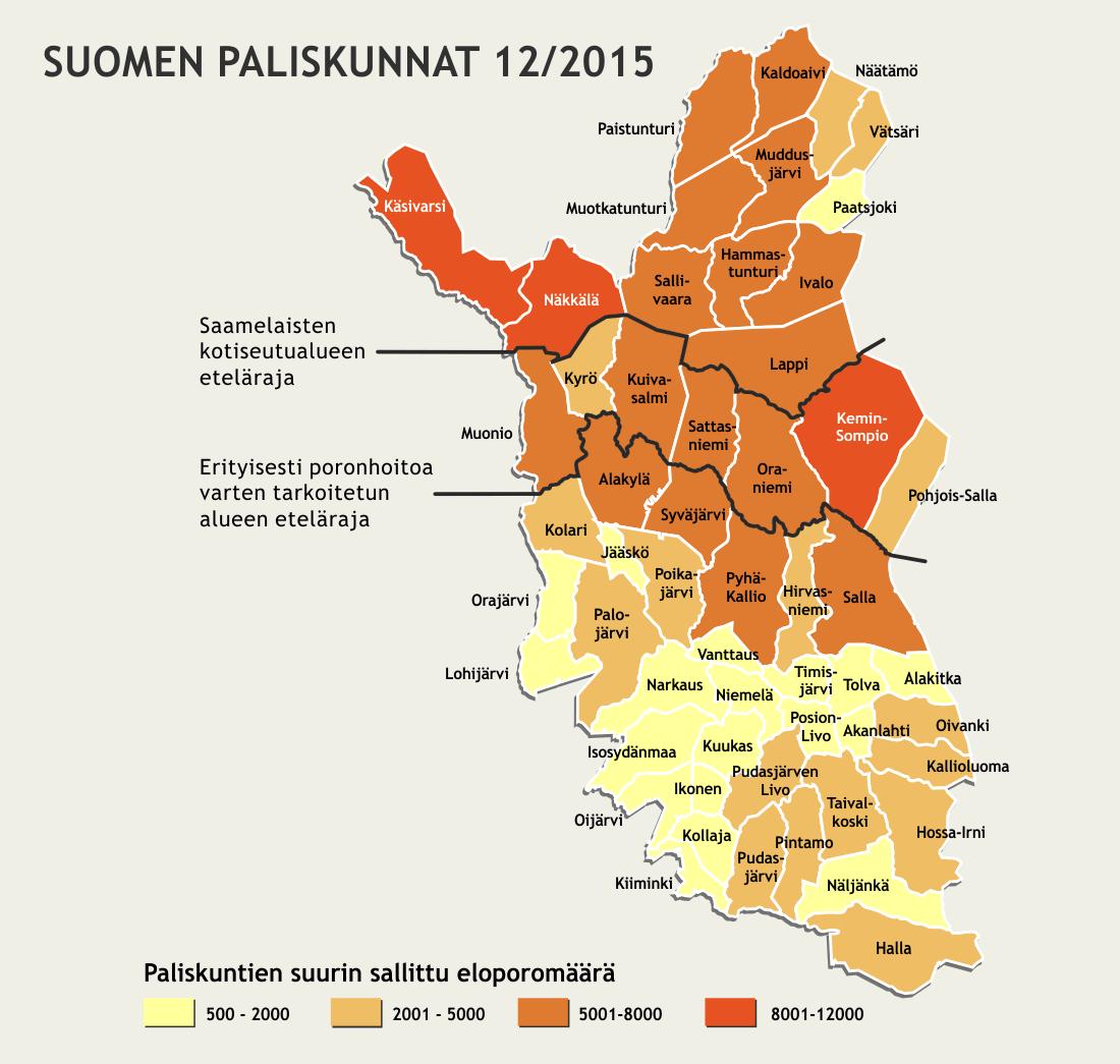 Suomen paliskunnat 2015