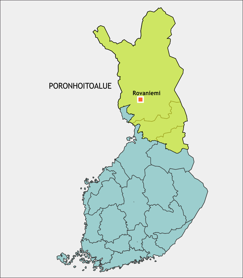 The Finnish reindeer husbandry area