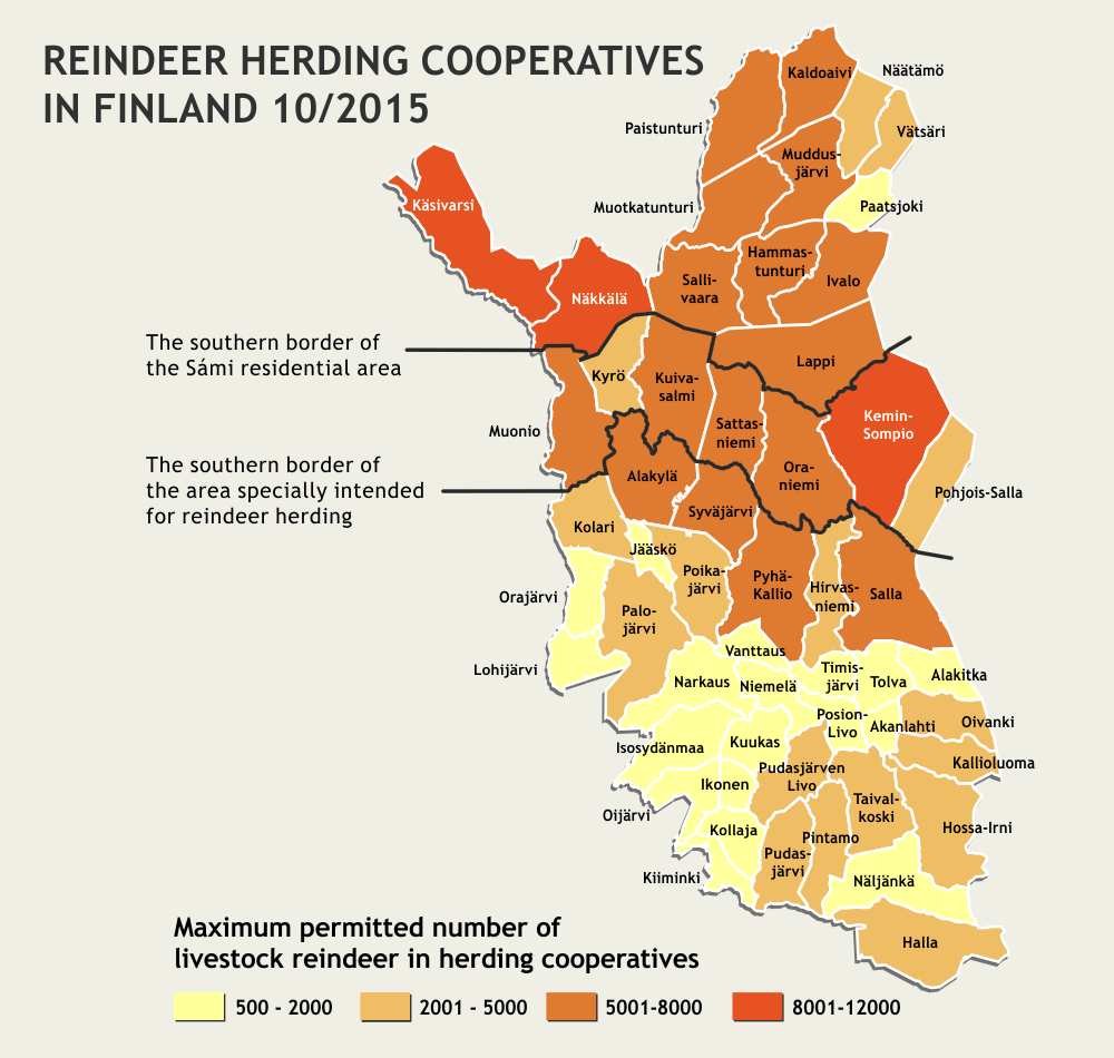 Reindeer Herding Cooperatives in Finland 10/2015